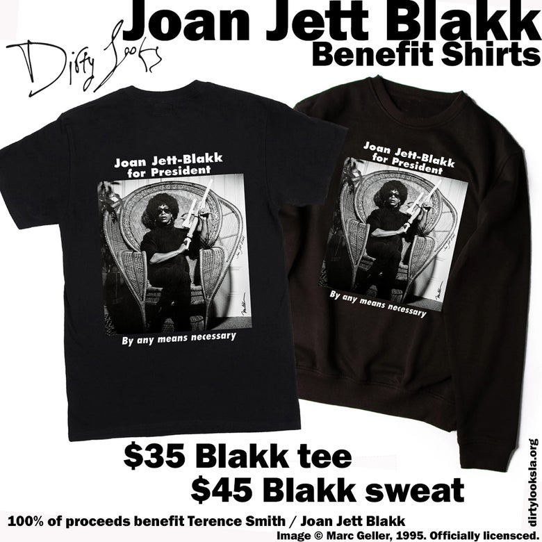 Image of JOAN JETT BLAKK BENEFIT SHIRTS