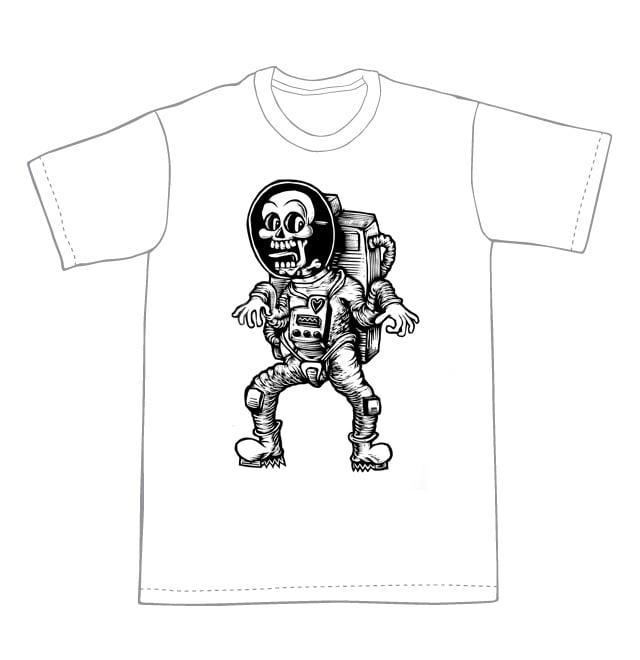 Dead Astronaut T-shirt (A2) **FREE SHIPPING**
