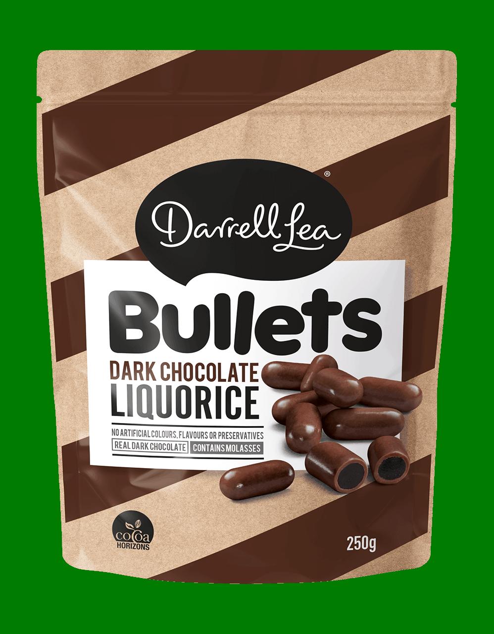 Image of Bullets Liquorice Dark Chocolate 250G