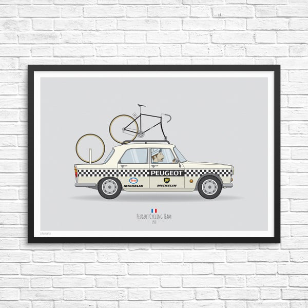 Image of Peugeot Cycling Team Car Giclee Print