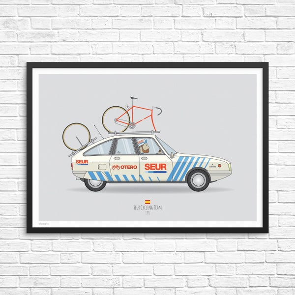 Image of Seur Cycling Team Car Giclee Print