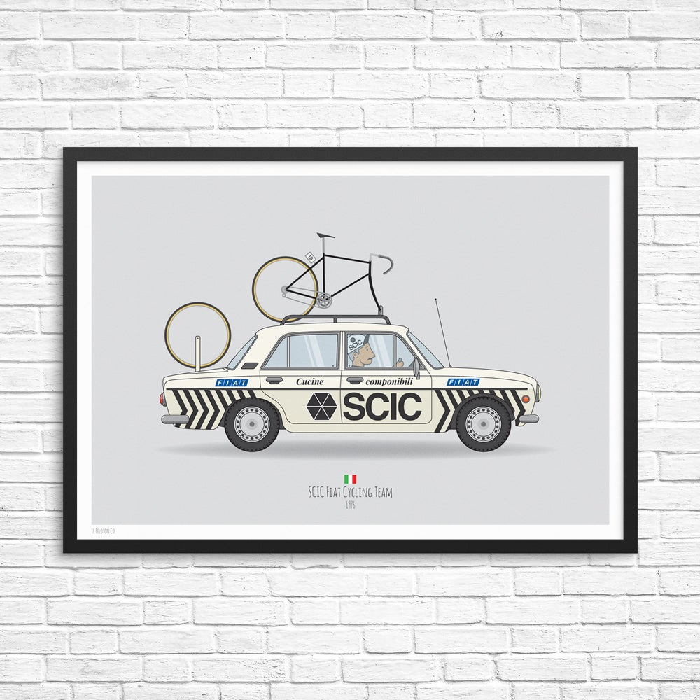 Image of SCIC Cycling Team Car Giclee Print