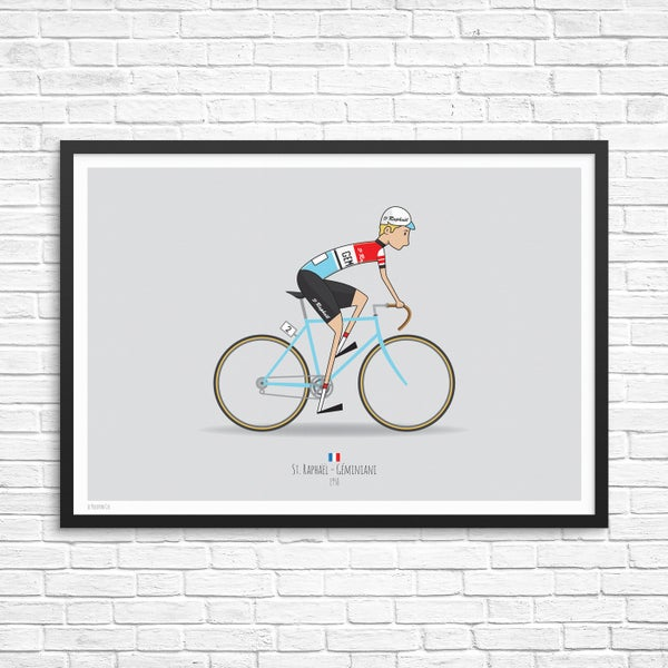 Image of St Rapheal Cycling Team Giclee Print