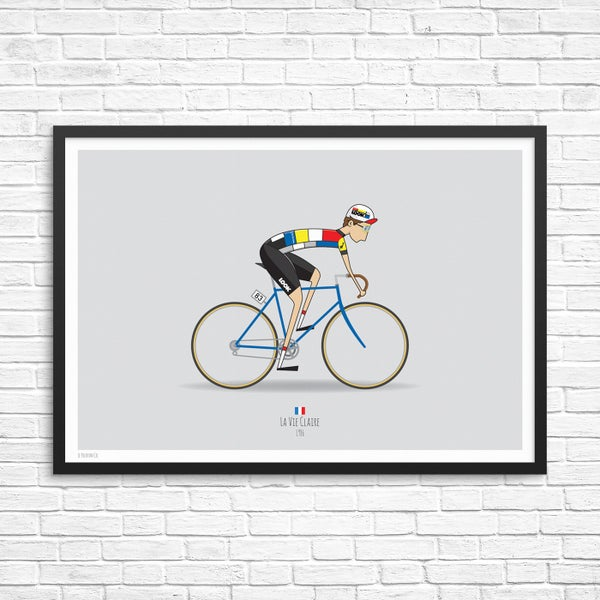 Image of La Vie Claire Cycling Team Giclee Print