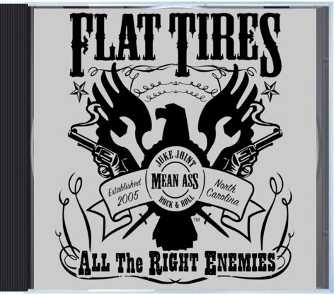 """Image of Flat Tires """"All The Right Enemies"""" CD"""