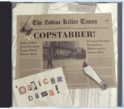"Image of Copstabber ""Officer Down"" CD"