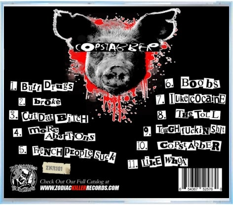 "Image of Copstabber ""Officer Down"" CD"