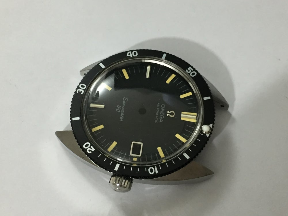 Image of RARE OMEGA SEAMASTER 120m S/STEEL DIVERS COMPLETE MENS WATCH CASE KIT Ref. 166.027-CAL 565 SERIES