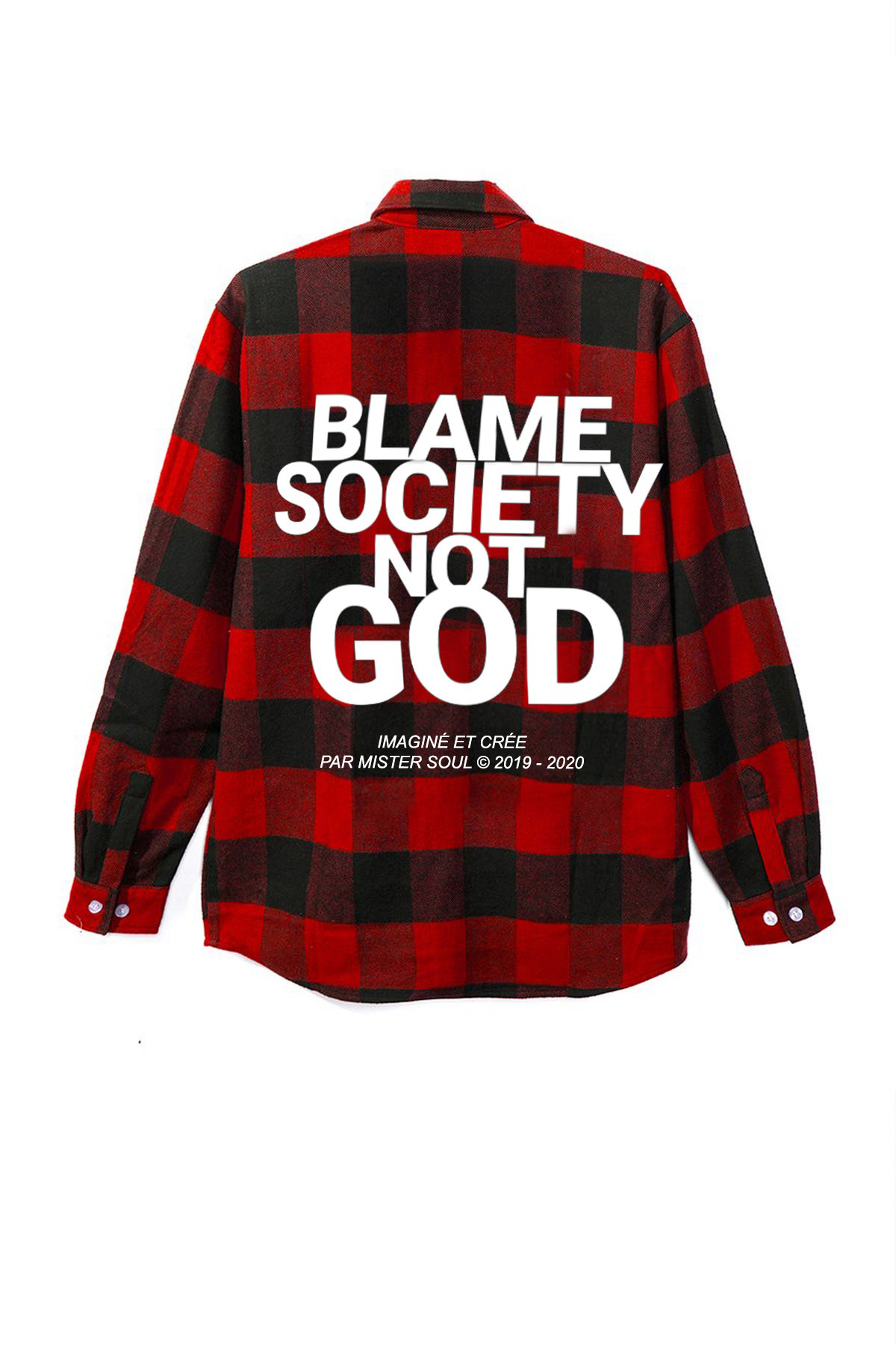 Image of BSNG RED FLANNEL SHIRT