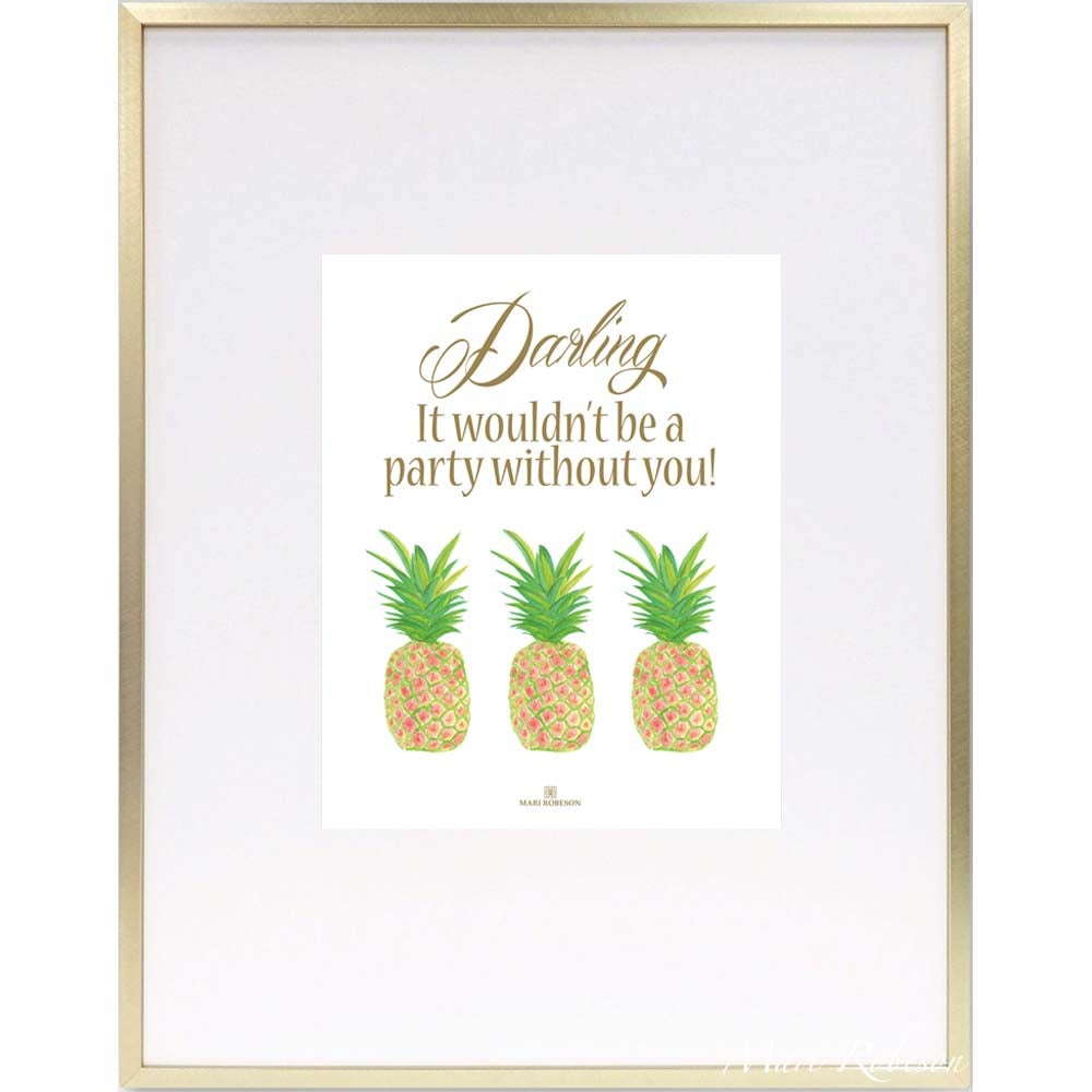 Image of Pineapple Party Art Print