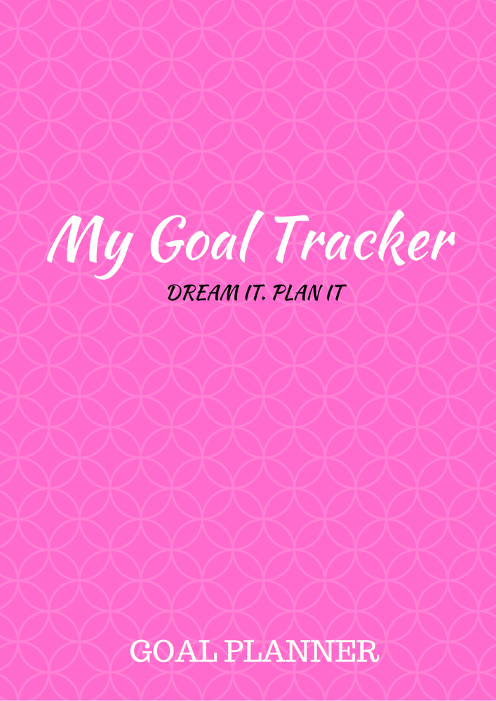 Image of PINK GOAL TRACKER PLANNER