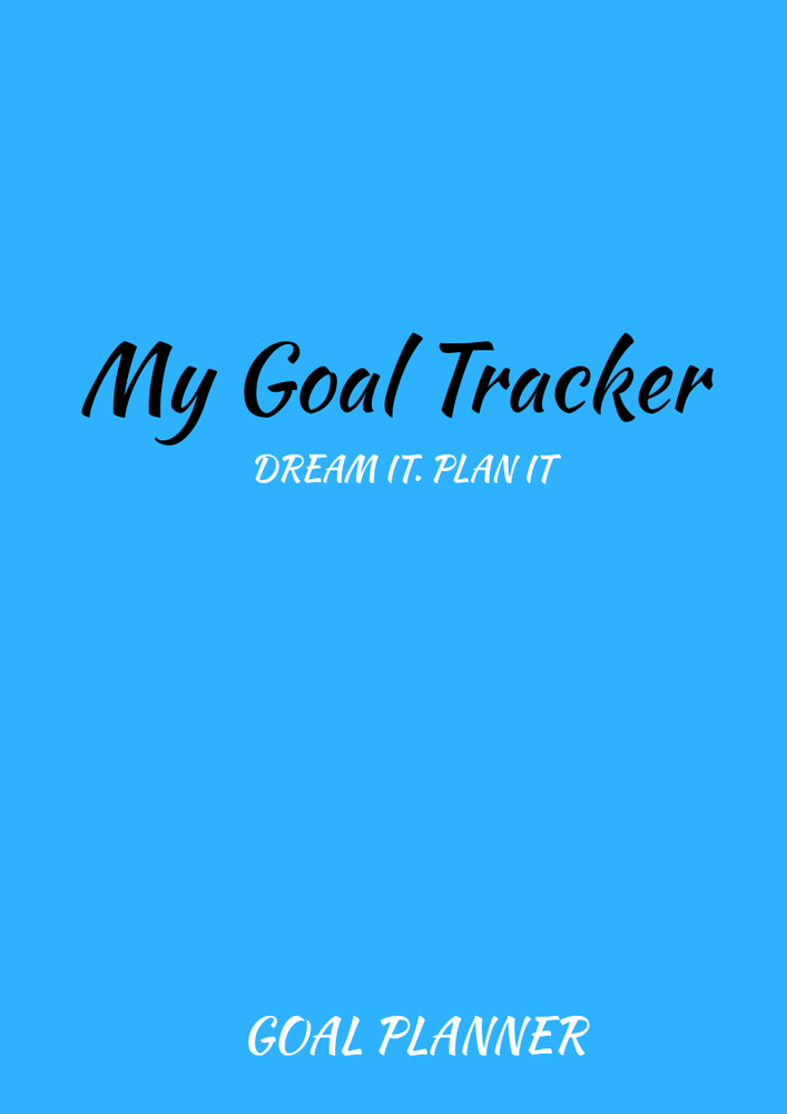 Image of LIGHT BLUE GOAL TRACKER PLANNER
