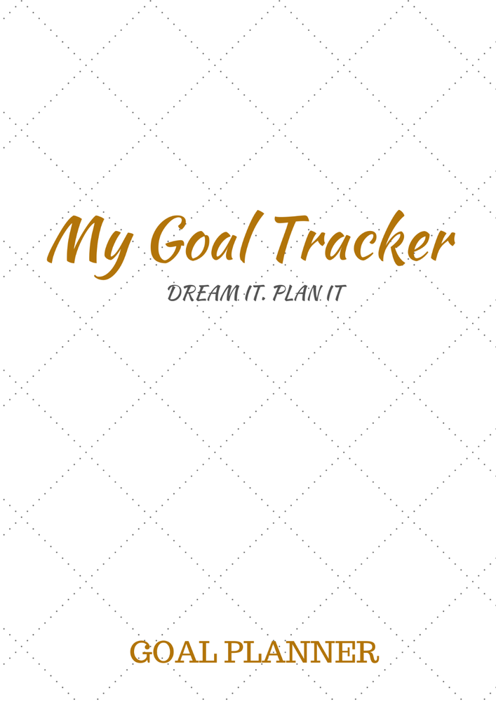 Image of WHITE & GOLD GOAL TRACKER PLANNER