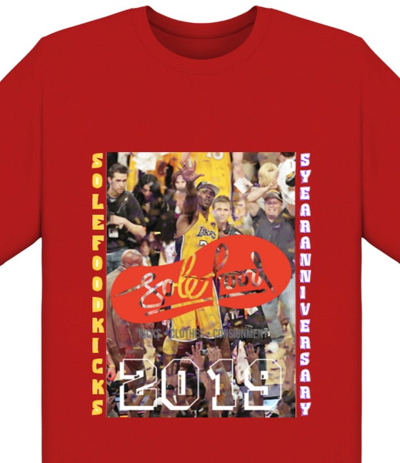 "Image of Sold Food Kicks 5 Year Anniversary ""Table Top"" Tee - Red - Limited Edition Preorder"