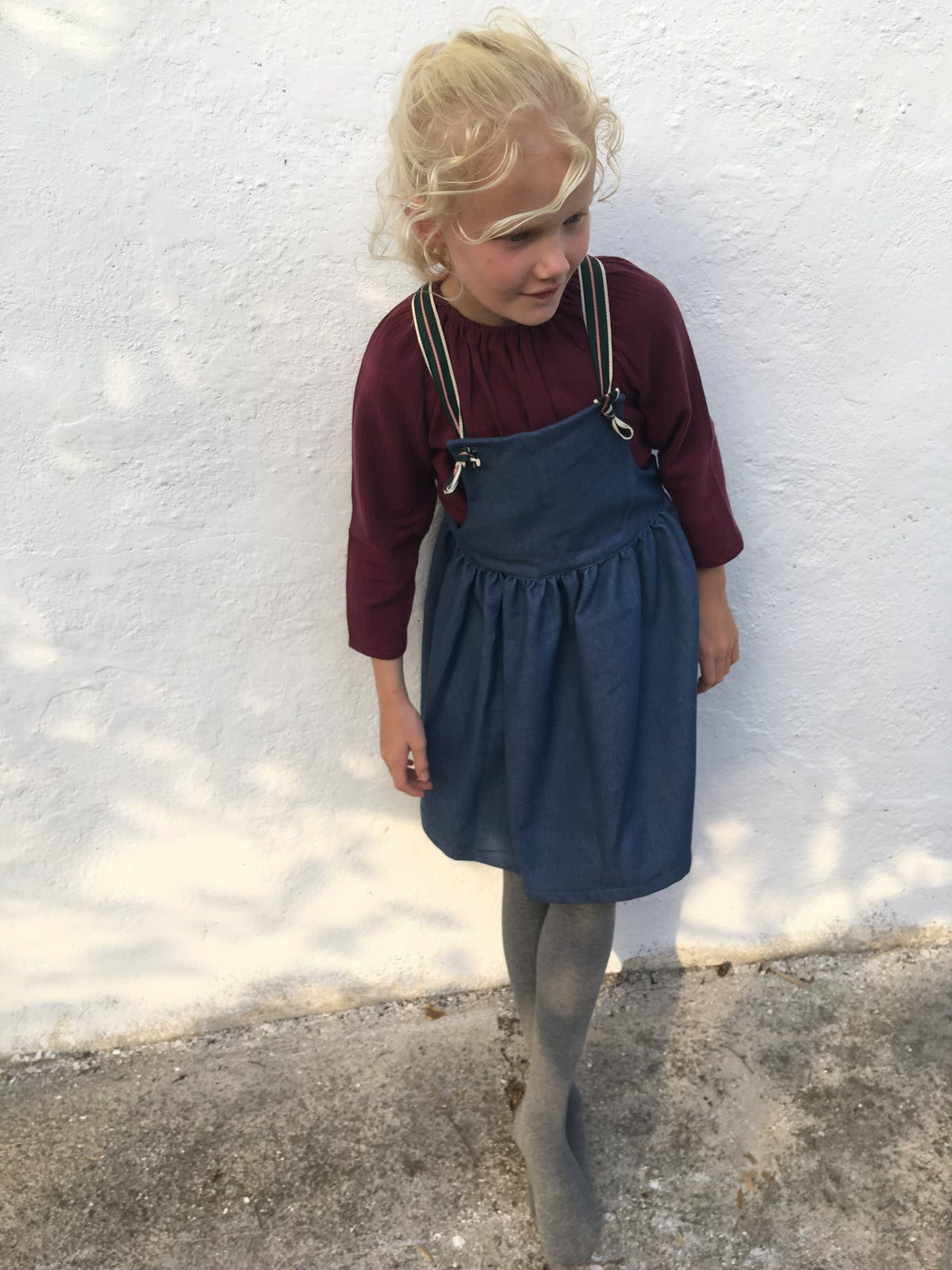 Pinafore Dress-jeans