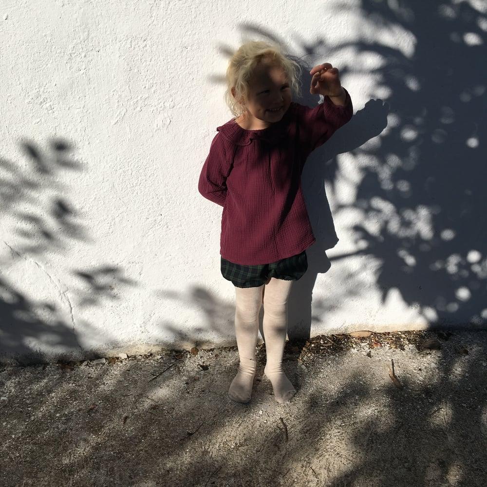 Image of Mavie Blouse- burgundy