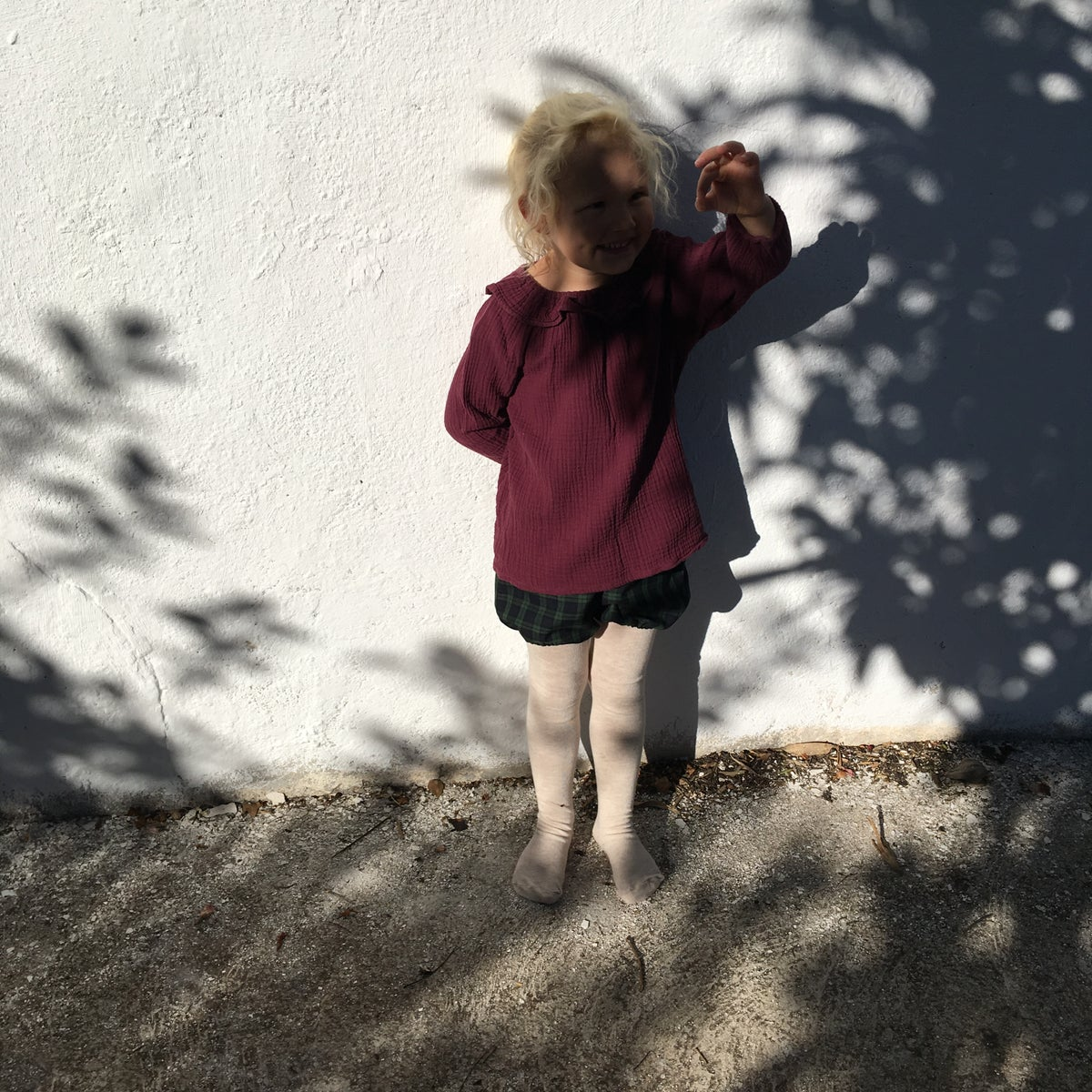 Mavie Blouse- burgundy gauze