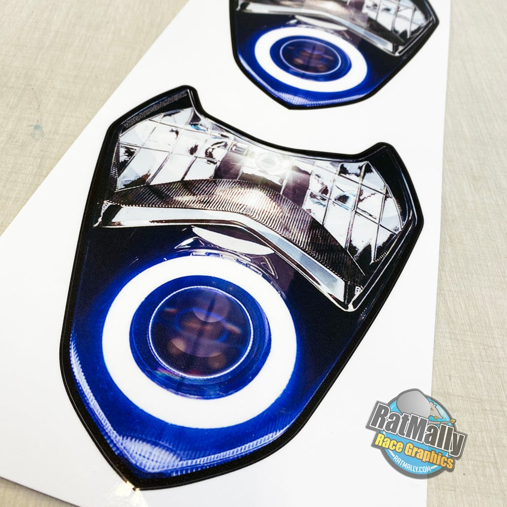 Image of Headlight Stickers to fit: Suzuki GSX-R 1000 K3 K4