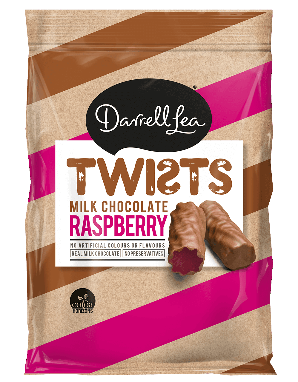Image of Twists Raspberry Milk Chocolate Coated 200G