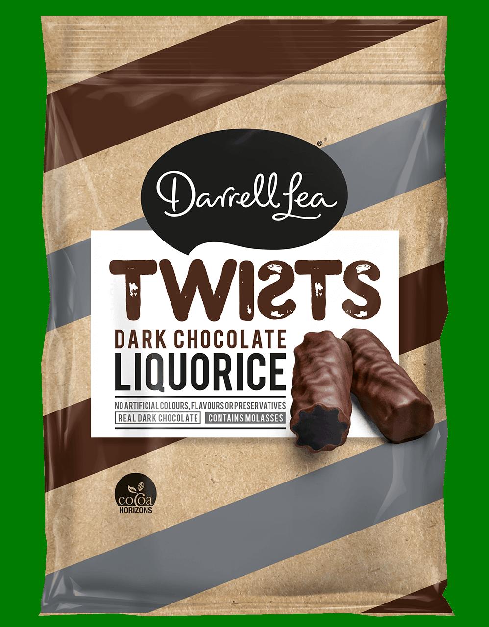 Image of Twists Liquorice Dark Chocolate Coated 200G