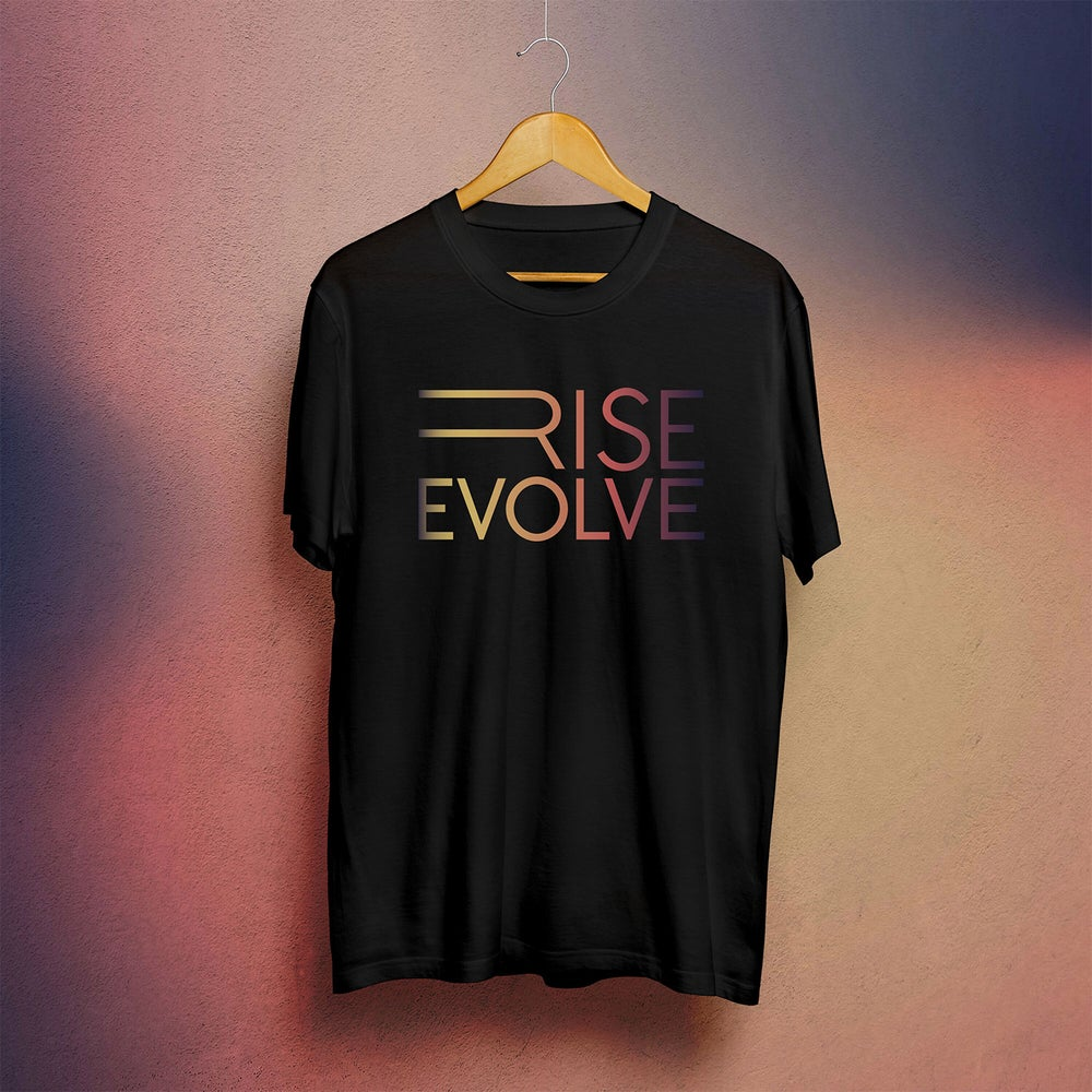 Image of Rise Evolve t-shirt (Black & Gradient)