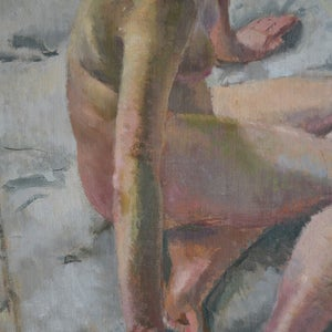 Image of 'Nude on a Mattress,' Philippa Maynard Romer ( 1929-2010)