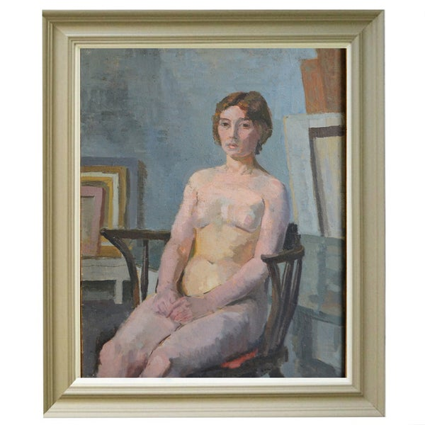 Image of 'Nude sitting in Chair,'  Philippa Maynard Romer (1929-2010)