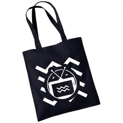 Image of TENEMENT TV BLACK TOTE BAG
