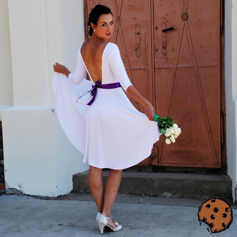 Obrázek Zoe - svatební bambusové šaty s volnými zády