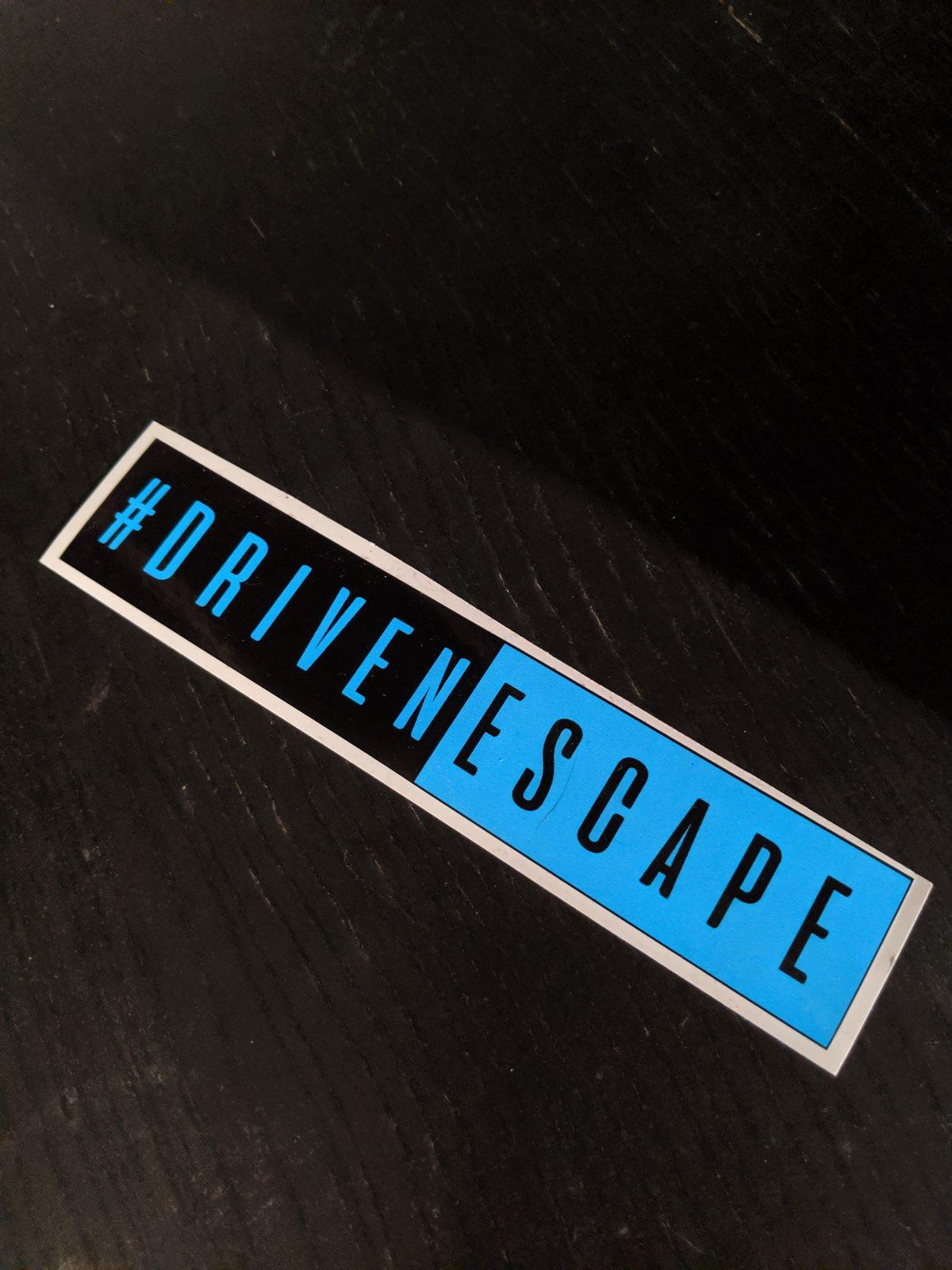 Image of Blue and Black #DrivenEscape Slap Sticker