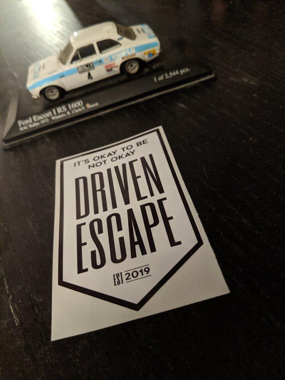 Black and White Driven Escape Shield