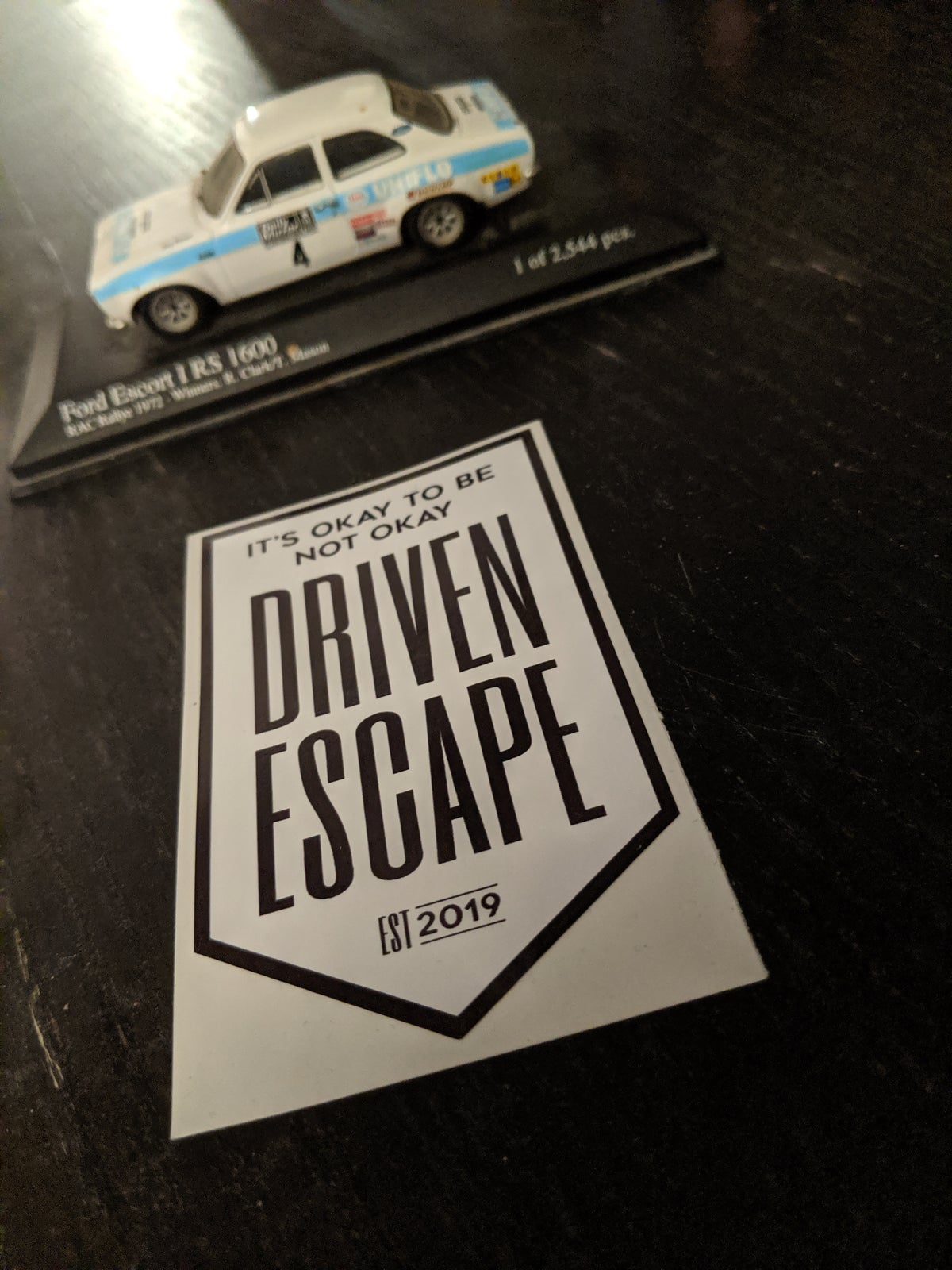 Image of Black and White Driven Escape Shield