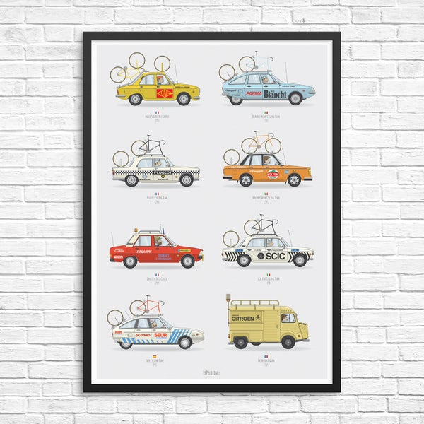 Image of Cycling Support Car Giclee Print