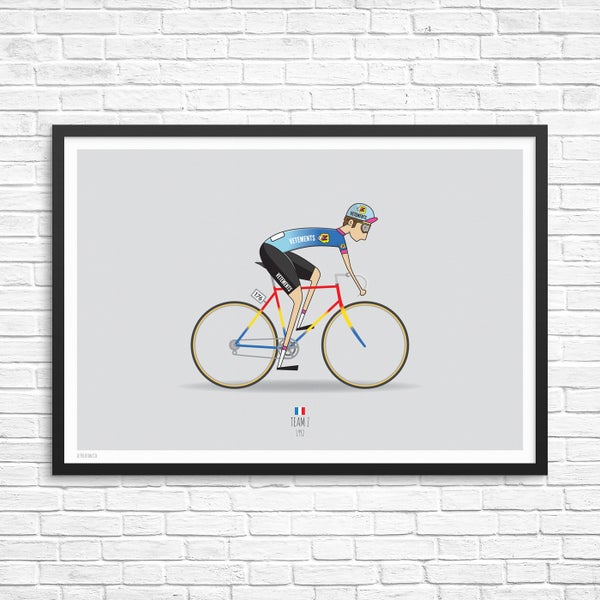 Image of Team Z Cycling Team Giclee Print