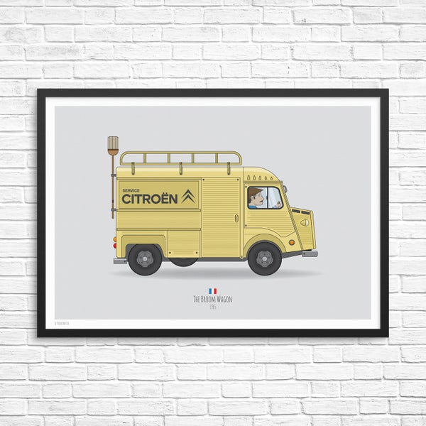 Image of Broom Wagon Citreon H-Van Giclee Print