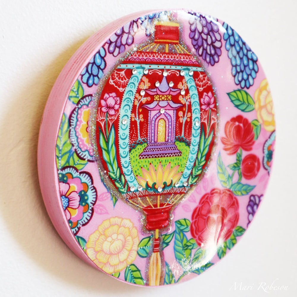 Image of Sanctuary in Pink - Resin Art Plaque