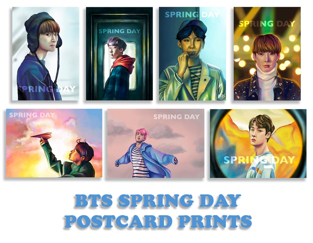 Image of [CLEARANCE SALE] BTS SPRING DAY POSTCARD PRINTS
