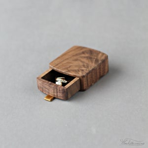 Image of Slim proposal box - engagement ring box by Woodstorming