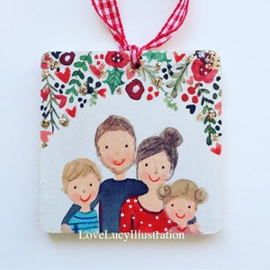 Image of Personalised Family Square Deciration