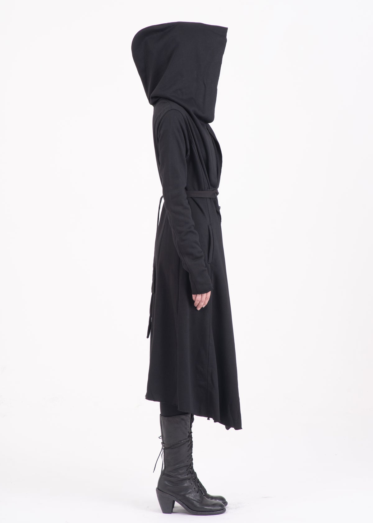 Image of Lace Up Hooded Jacket