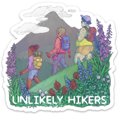 "Image of Sticker ""Group Hike"""