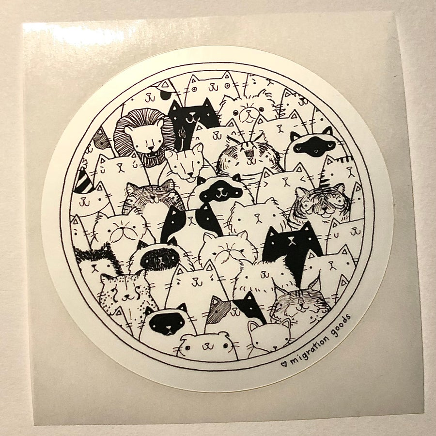Image of cat gang sticker