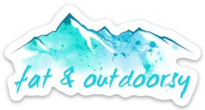 "Image of NEW! Sticker Mountains ""Fat & Outdoorsy"""