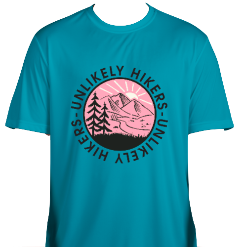 Image of NEW! Unigender Performance Atomic Blue & Pink Shirt | S-4X