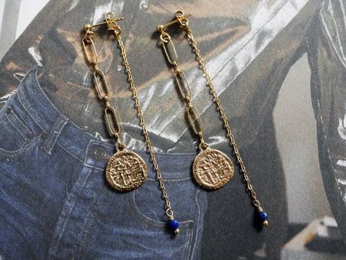 Image of Clou Pendant Médaille 6 coloris
