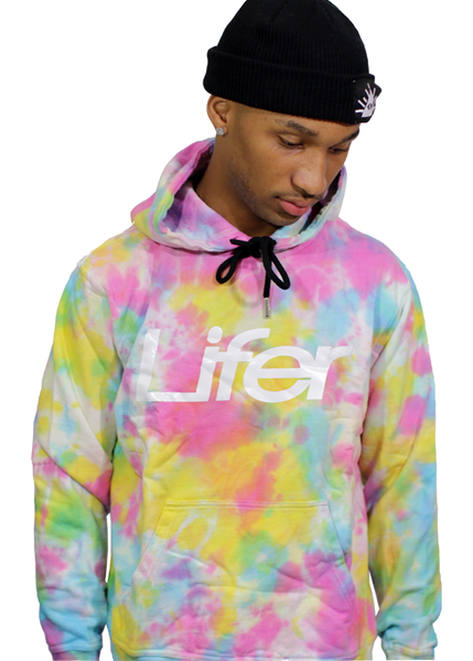 Image of TYE DYE PREMIUM HOODIE (PINK, YELLOW, BLUE)