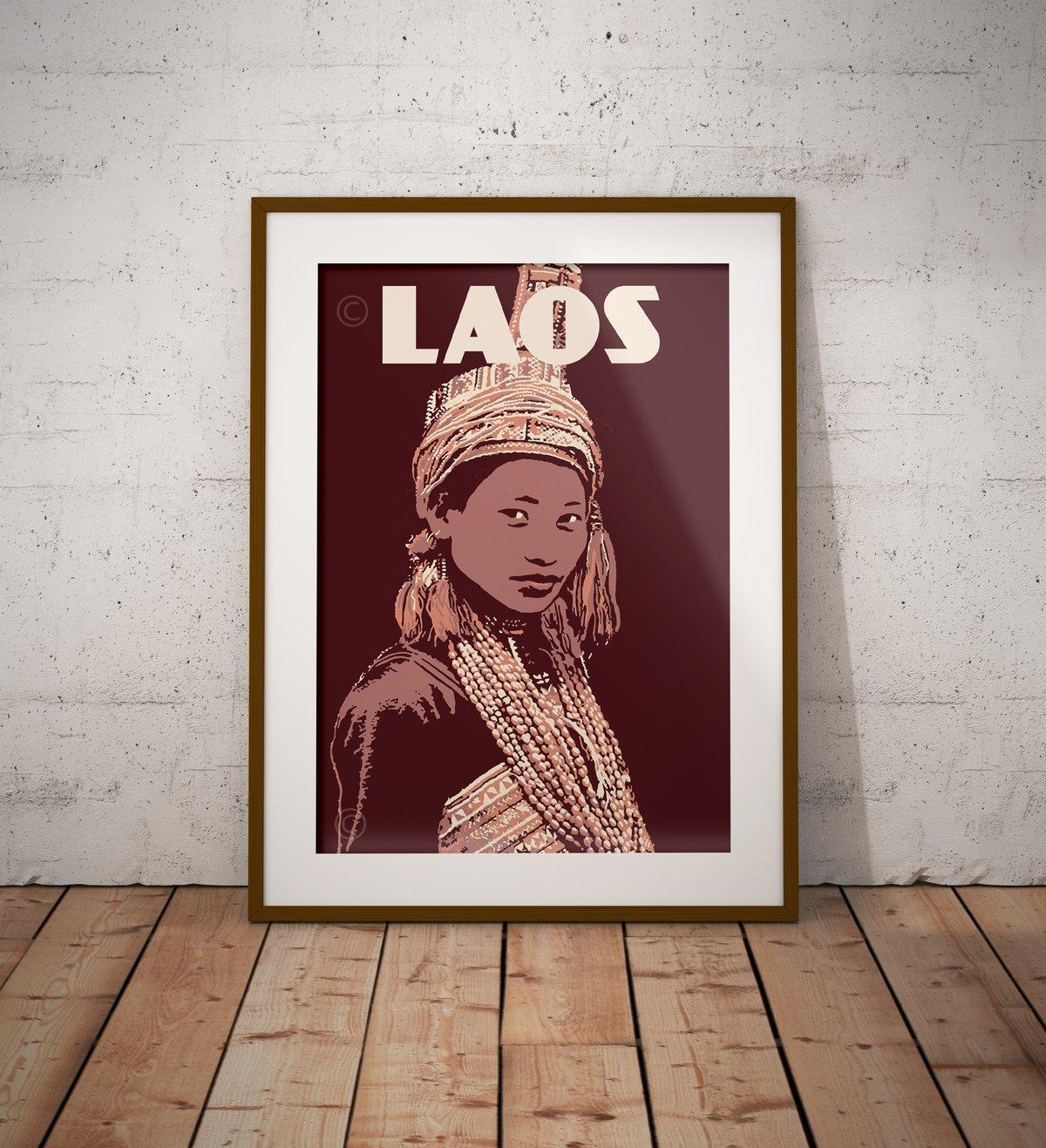 Image of Vintage poster Laos - Ko Pala - Fine Art Print