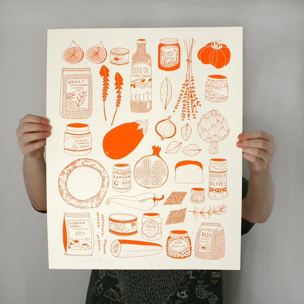 Image of Pantopoleio Screen Printed Poster