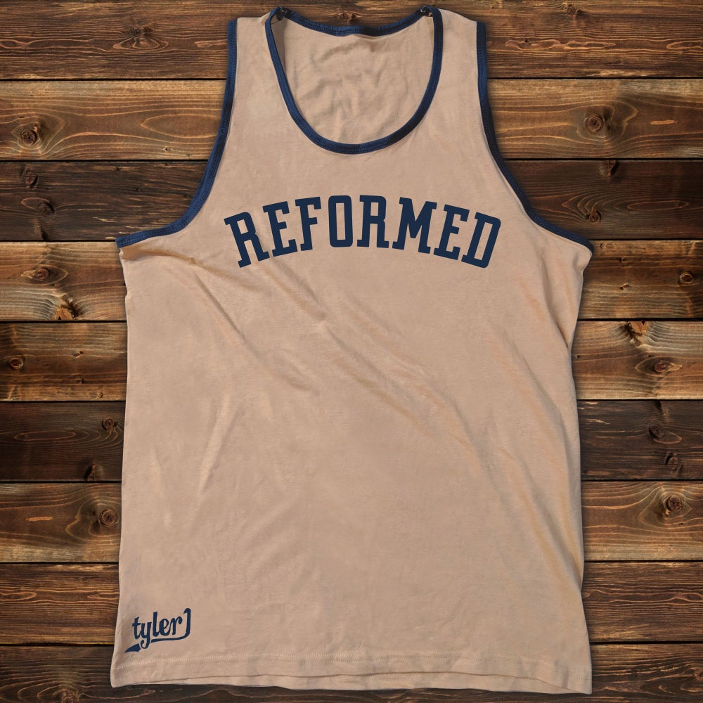 Image of Reformed Tank - Gold|Blue