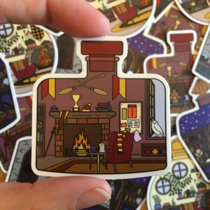 Image of Common Room in a Bottle decal